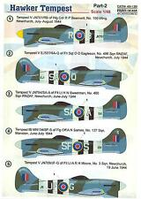 Print Scale Decals 1/48 HAWKER TEMPEST British WWII Fighter Part 2