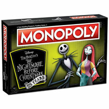 NIGHTMARE BEFORE CHRISTMAS 25TH ANNIVERSARY EDITION MONOPOLY GAME HALLOWEEN NIB