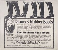 1911 AD(XE18)~WOONSOCKET RUBBER CO. RI. ELEPHANT HEAD RUBBER BOOTS