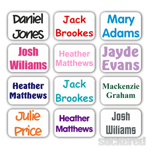 STICK ON CLOTHES NAME LABELS FOR SCHOOL UNIFORM CARE HOME