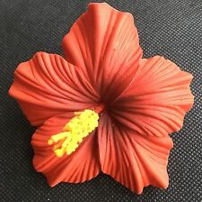 Hawaiian Foam Hibiscus Flower Hair CLIP Aloha RED Wedding Bridal Luau Party