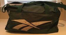 "Vintage 80s 90s REEBOK Green Nylon Duffle Gym Carry-On Luggage Bag 18"""