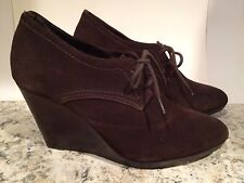 Jack Rogers Pima Ankle Boots Wedge Lace Up Brown Espresso 8.5 M $298 New