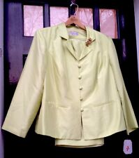 NWT Adrianna Papell  Woman Plus Size 20W (2X) Apple Green Silk Cocktail Suit