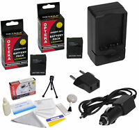 2 Pack AHDBT-301 AHDBT-302 High Capacity Battery Charger Kit for GoPro HD HERO3+