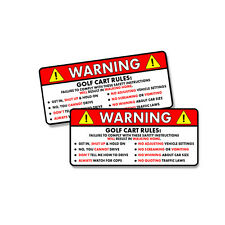 Golf Cart Rules Warning Safety Instructions Funny Vinyl Sticker Decal 2 PACK 5""
