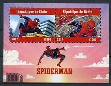 Benin 2017 CTO Spiderman Marvel Peter Parker 2v M/S I Superheroes Comics Stamps