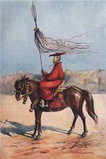 'A Lama standard-bearer' by Arnold Henry Savage Landor. Tibet 1905 print