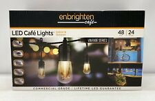 Enbrighten 48 ft. Outdoor Vintage LED Edison Cafe String Lights~24 Acrylic Bulbs