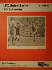 RW Erfurt Programm 1986//87 Union Berlin