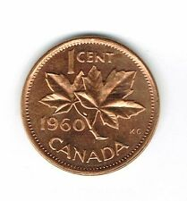 1960 Canadian Uncirculated One Cent Elizabeth II Coin!