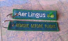 Aer Lingus remove before flight keyring keychain ireland