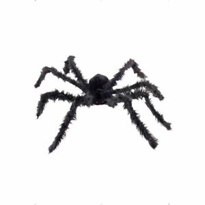 GIANT Hanging Hairy Spider Halloween Party Prop 102cms
