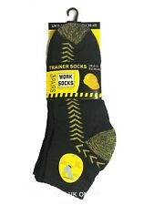 Mens Heavy Duty Work Socks 3 Pairs Trainer Socks Size UK 6-11