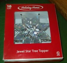 "Brand New - Holiday Home 8"" Jewel Star Christmas Tree Topper Snowflake"