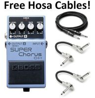 New Boss CH-1 Super Chorus Pedal FREE Hosa Cables