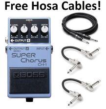 New Boss CH-1 Super Chorus Pedal! FREE Hosa Cables!