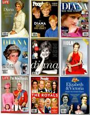 9 Collectors Magazines PRINCESS DIANA, THE ROYALS