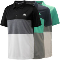 Adidas Golf Men's Advantage Color Block Polo Shirt, Brand New