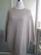 Brunello Cucinelli Colorblock Cashmere Lamé Chunky Ribbed Sweater sz 3XL $3K New