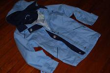 NEW Women's MacKintosh Light Sky Blue Hooded Zip Jacket (X-Large)