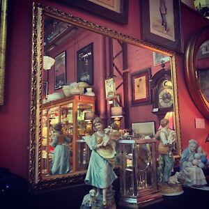 Vintage Gilt Square Mirror