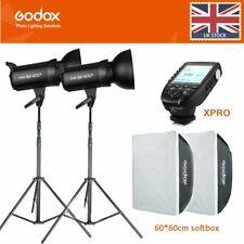 2*Godox SK400II 400W 2.4G Studio Flash+softbox+2m light stand+Xpro-C/NS/F/O Kit