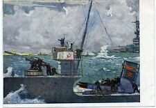 """1941 WWII """"Black Sea Maneuvers"""" by Nissky Navy Military Rare Russian Postcard"""