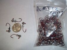 1/16oz #4 DOUBLE BARB LEAD HEAD JIG EAGLE CLAW LIL NASTY SICKLE - RED 100ct