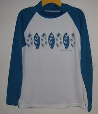 NWT Sun Protective Zone Boys Long Sleeve Top Size 6 Surfboard Design Blue White