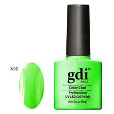 GDI NAILS - SUBTLE NUDE AND VIBRANT NEON GLOW UV LED SOAK OFF GEL NAIL POLISH