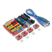 3D-Drucker Board Kit fuer Arduino CNC-Schild V3 + UNO R3 + A4988x4 GRBL Kompa PA