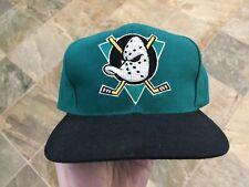 Vintage Anaheim Mighty Ducks Blockhead Snapback Hockey Hat