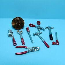 Dollhouse Miniature Metal Tool Set Hammer, Drill, Pliers, Screwdriver  IM65249