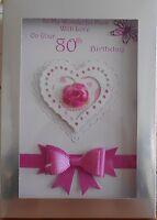 Personalised handmade birthday card mum sister nan wife daughter sister with box
