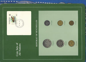 Coin Sets of All Nations Seychelles 1982-1995 UNC w/Card Rare coin date for set