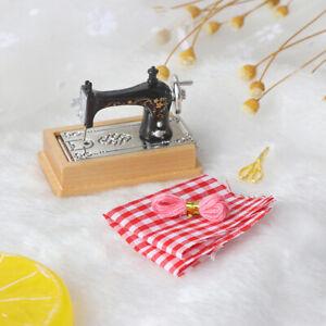 1/12 Dollhouse Miniature Sewing Machine with Scissors Thread Cl*AU