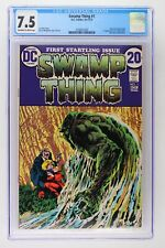 Swamp Thing #1 - DC 1972 CGC 7.5 Origin of Swamp Thing. 1st Appearance of Lt. Ma