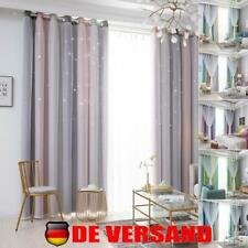 Sterne Verdunkelungs Vorhänge Ösen Gardinen Tüllgardine Doppelschicht Vorhang DE