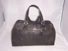 Authentic Coach Hamptons Black Satchel Handbag  E0793 F11198  PreOwned