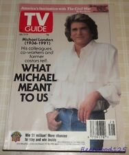 Vintage 1991 July 13-19 TV Guide - What Michael Meant to Us / Michael Landon
