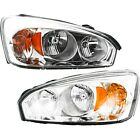 Headlights Headlamps Left & Right Pair Set for 04-08 Chevy Malibu