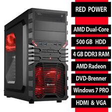 PC Completo ORDENADOR AMD duad Core 4gb RAM 500GB USB 3.0 HDMI RW - Win7 prof.