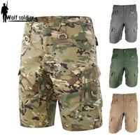 Men's Outdoor Military Tactical Combat Shorts Cargo Pants Casual Hiking Camping