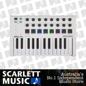 Arturia MiniLab-mk2 MIDI Keyboard 25 Key iOS Compatible with Analog Lab Lite