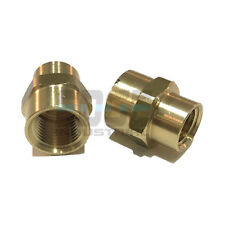 BRASS REDUCING COUPLING 3/8 X 1/4 FEMALE NPT PIPE FITTING ADAPTER AIR FUEL WATER