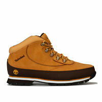 Mens Timberland Euro Brook Boots In Wheat- Lace Fastening- Padded Collar And
