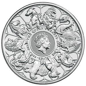 2 Oz Silbermünze Queens Beasts Completer Coin Grossbritannien 5 Pfund 2021