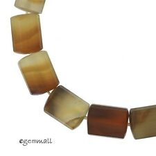 "16 Natural Carnelian Unpolished Tube Faceted Beads 11x14mm 9"" #54130"