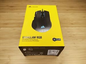 Corsair Ironclaw RGB FPS/MOBA Gaming Computer Mouse - Black New! Sealed!